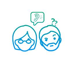 Outras pessoas lhe falaram que você tem perda auditiva