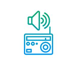 Aumenta a TV ou rádio para um nível de volume que outras pessoas acham alto