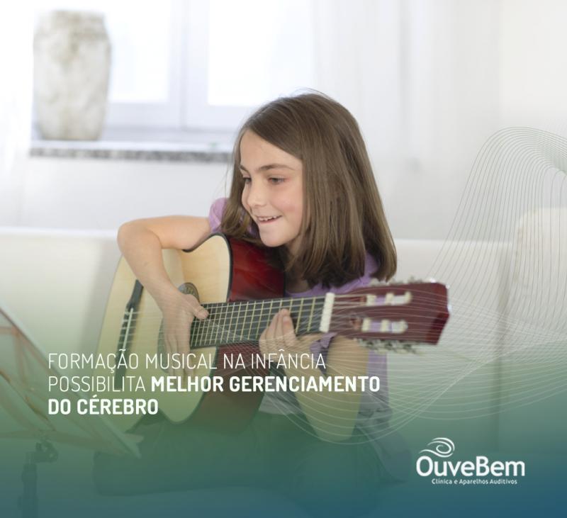 Formação musical na infância possibilita melhor gerenciamento do cérebro