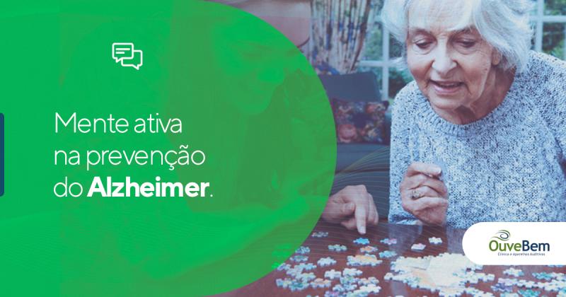 Mente ativa na prevenção do Alzheimer.