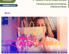 Professora cria conta no youtube para contar histórias infantis em libras